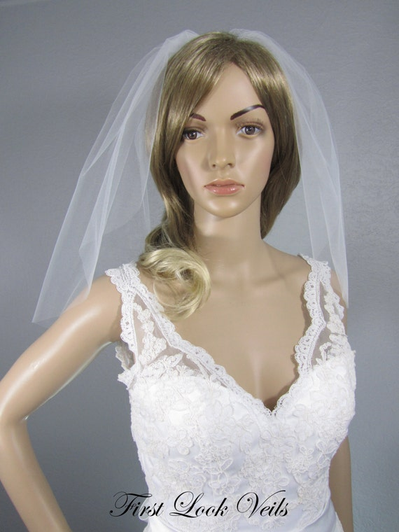 Wedding Veil, White Bridal Veil, Shoulder Viel, Veil, Handmade, Bride, Short Veil, Ivory Veil, Diamond White Veil, Black Veil, Pink Veil