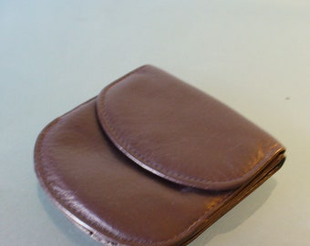 Leather Wallet Change Purse Combo Pouch