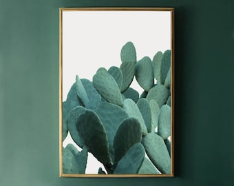 Cactus Wall Art Print, Green Cactus Print, Cactus Decor, Cactus Photo Print INSTANT DOWNLOAD Art, Botanical Print, Plant Printable Art 24x36