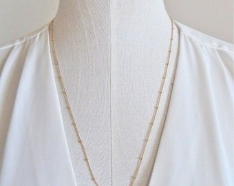 SATURN - 14k gold fill chain necklace, minimal gold necklace, layering gold necklace, bridesmaid gift