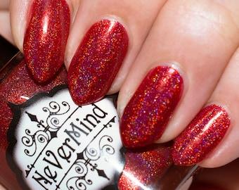 Hadephilia - Red Linear Holo Nail Polish - Holographic Nail Lacquer - Holophilia