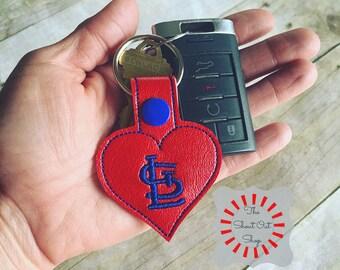St Louis Cardinals Keychain, Cardinals Keychain, Cardinals Keyfob, Cardinals Snap Tab, Cardinal Baseball, Cardinals Back Pack, Purse Charm