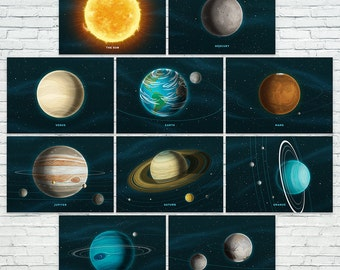 "Our Solar System Prints - Set of 10 (5""x7"")"