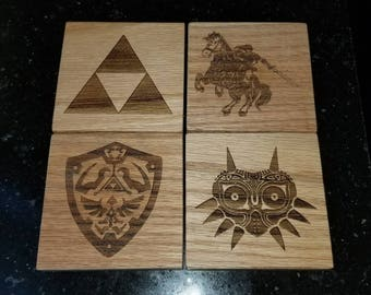 Custom Solid Oak Wood Coasters