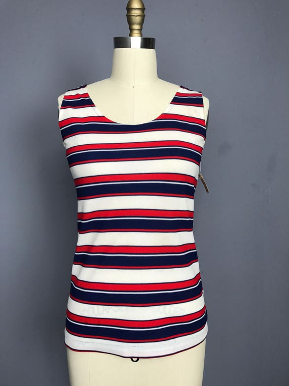 Red White and Blue Striped Tank