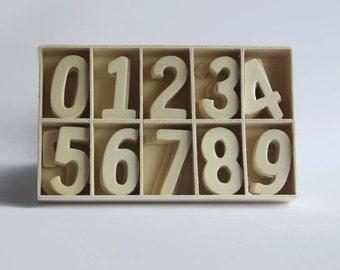 Set of 70 Wood Number 0-9