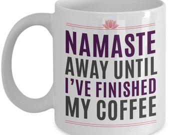 Yoga Lovers Coffee Mug 11oz white ceramic