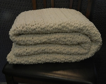 Crocheted Blanket, Handmade Quilt, Multiple colors available, Comfy and Soft Blankets