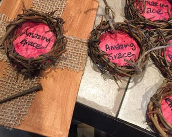 Amazing Grace/Crown of thorns ornaments