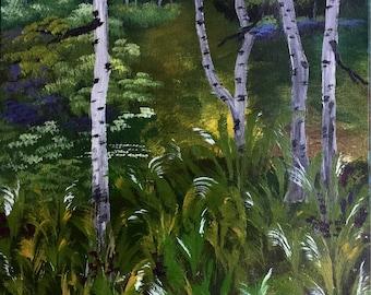 Original acrylic painting Original acrylic landscape