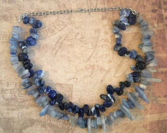 Lapis Stone Chain Necklace