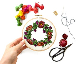 Out of Retirement! - Flower Crown Pattern Contemporary Embroidery PDF  #skbdiy Pattern Program: Digital Download
