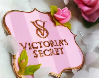 Victoria's secret inspired logo stamp
