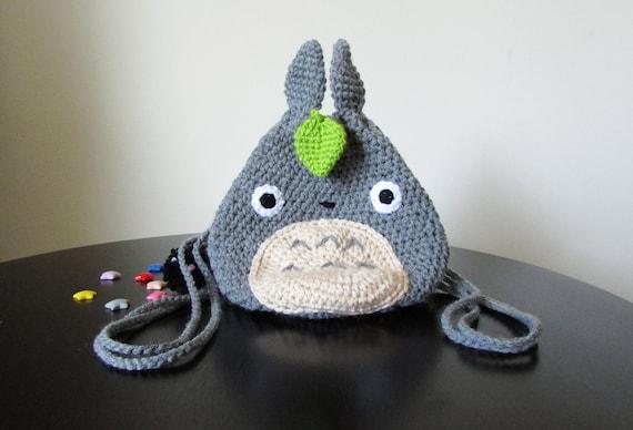 Totoro Azul Amigurumi : Totoro crochet pattern totoro mini backpack crochet backpack