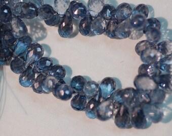 Mystic Blue Quartz Drops
