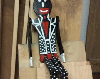 Mr. Tall Hat Limberjack Dancing Doll