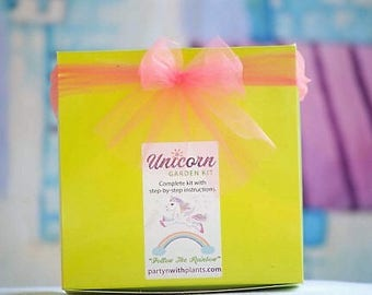 Unicorn Birthday, Unicorn Gift, Unicorn Fairy Garden Kit, Succulent, Unicorn Craft, Birthday Gift, Gift for her, Unicorn Birthday Party