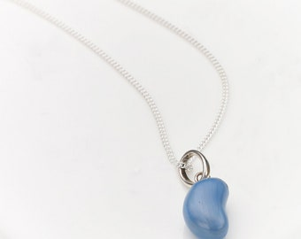 Blueberry Jelly Bean Necklace