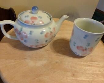 Japanese tea set, Vintage tea set, teapot with cup