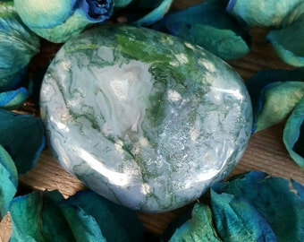 Moss Agate, Moss Agate Power Stone, Large Tumble