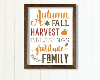 Autumn Fall PRINTABLE Sign Instant Download