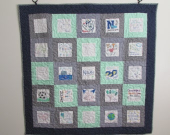 Guest Book Quilt for Baby Shower/Signature Quilt....Customizations....Unique...Baby Crib Quilt