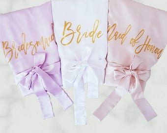 Satin Bridesmaid Robes / Getting Ready Robes / Bridal Party Robes / Wedding Robes / Personalised Robes