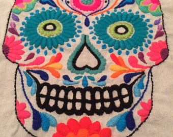 DIY embroidery Mexican skull KIT