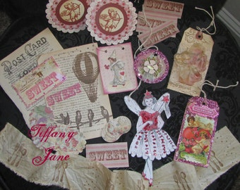 SALE--Sweetheart Glitter Fairy Papier Set by TiffanyJane