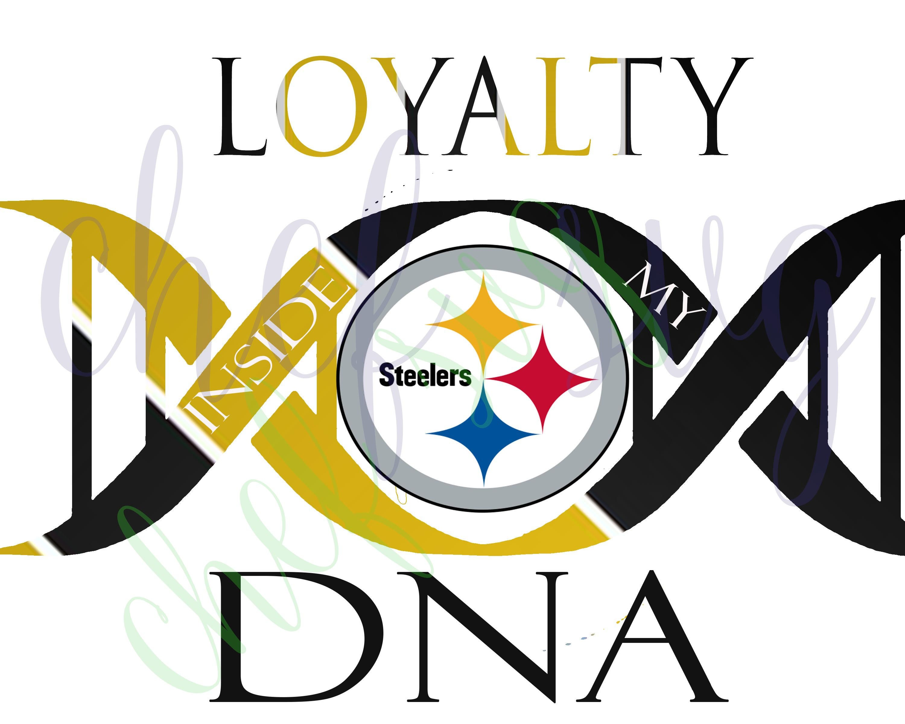 pittsburgh steelers loyalty in my dna svg quote quote rh etsy com steelers logo vector file steelers logo vector download
