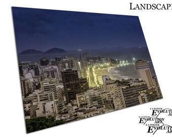 city of Rio de Janeiro skyline at night Brazil paradise Poster Print X1436