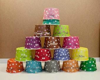 50 Polka Dots Baking Cups