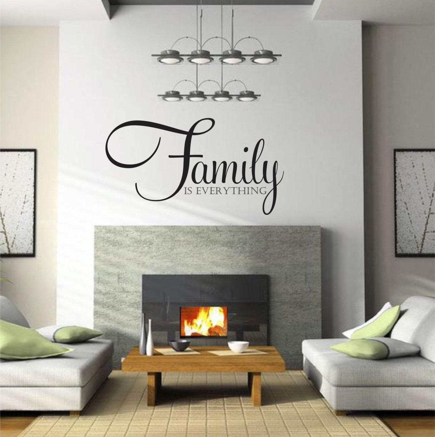 With this listing you will receive one Family Is Everything wall decal.  CUSTOM ORDER DETAILS: During checkout please enter the following information into the Notes box. Choose from over 60 beautiful colors! Please reference the color chart in the listing photos. Important information