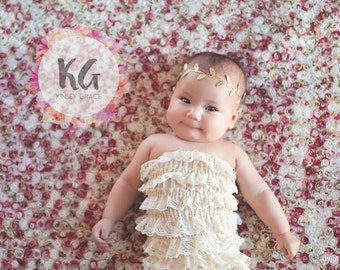 Gold Headband, Leaf Headband, Baby Headband, Boho Headband, Infant, Toddler, Girls Headband, Silver Headband, Newborn Baby, Boho Baby Girl