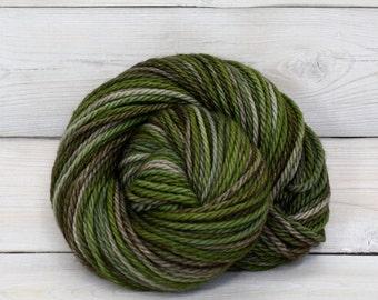 Apollo - Hand Dyed Bulky Superwash Merino Wool Bulky Chunky Yarn - Colorway: Camo