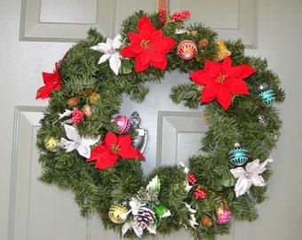 Faux Fur Holiday Wreath