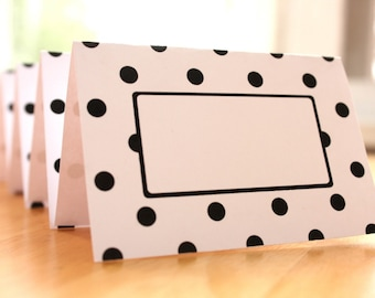 Classic Polka Dot Editable Place Card Printables