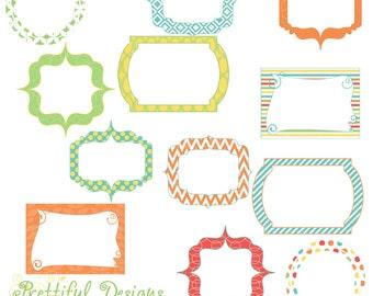 Digital Frames Clip Art Instant Download Commercial Use