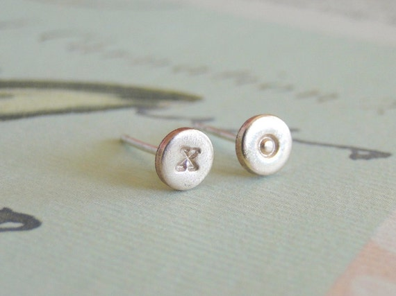 Gold XO Stud Earrings, Gold Studs