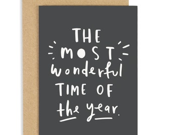 Most Wonderful Time of the Year Christmas Card - Holiday Card - CC100