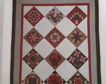 Lands' End Quilting Kit Quilt and Stocking Lap Quilt 1988 Uncut Vintage Pattern