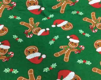 green Christmas Ginger  soft cotton Fabric 48*160 cm knit DIY fabric 1/2y