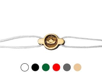 Wooden Paper Boat Bracelet