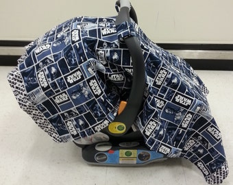 Star Wars Car Seat canopy cover w/flannel back (can be customized)