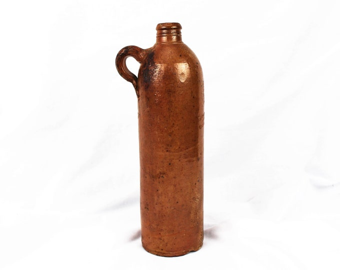 Antique-Georg Kreuzberg Ahrweiler Reinpreussen-Earthenware/Stoneware-Apollinaris Mineral Water Bottle-No 2-Circa. 1850