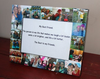 Personalized Collage Frame, FRONT Only Photos, 5 x 7 Custom Collage Frame