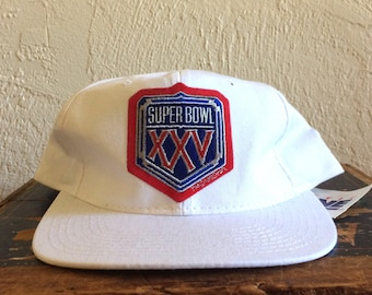 Vintage NFL Super Bowl 25 Snapback Hat (1990-91 New York Giants vs Buffalo Bills)