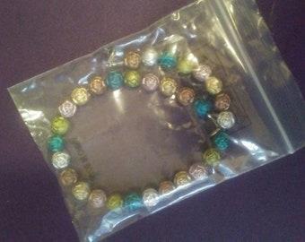 Metallic rose bracelet