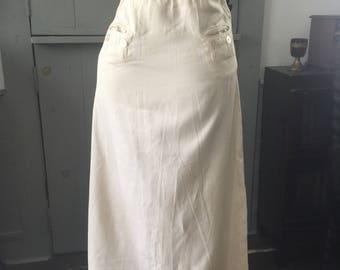 Vintage Edwardian linen walking out skirt