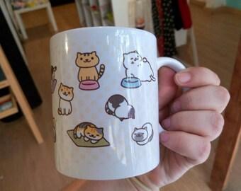 Neko atsume cute coffee mug